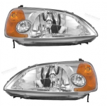 2002 Honda Civic Head Light Lamp (Set)