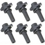 Jaguar 3.0L V6 Ignition Coil Set of 6 Complete